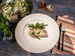 Garlic Pork Chops with Green Beans