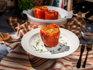 Pork-Stuffed Peppers