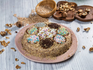 Pearl Barley Porridge Cake (Barley Koliva)