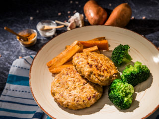 Apple, Sweet Potato and Turkey Patties