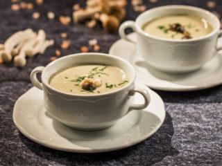 Three-Mushroom Soup