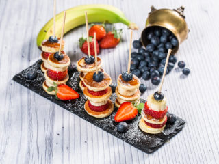 Fruity Mini Pancake Skewers