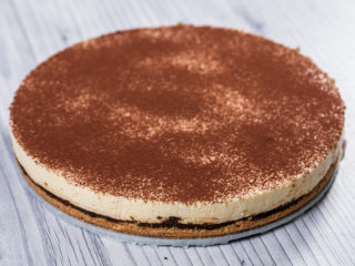 Amaretti and Prune Cheesecake