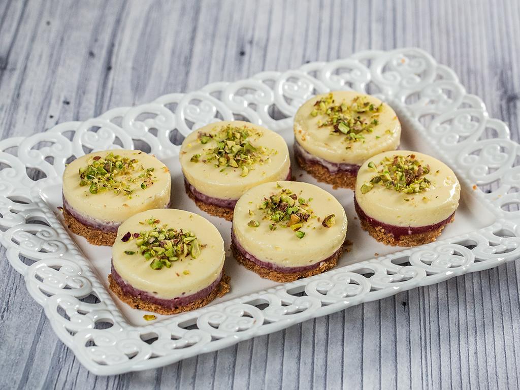 Sour Cherry Mini Cheesecakes