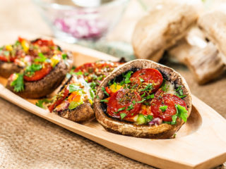 Bell Pepper and Chorizo-Stuffed Mushrooms