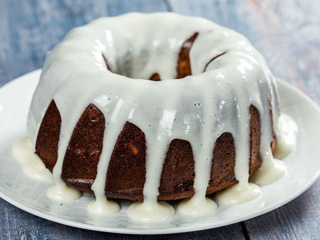 Apple and Walnut Maple Bundt Cake