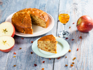 Apple and Walnut Cointreau Cake