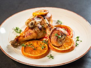 Pomegranate Chicken Drumsticks with Citrus