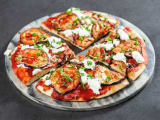 Frying Pan Pizza with Eggplant and Ricotta