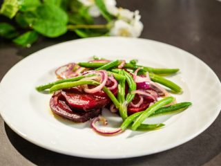 Warm Beet and Green Bean Salad