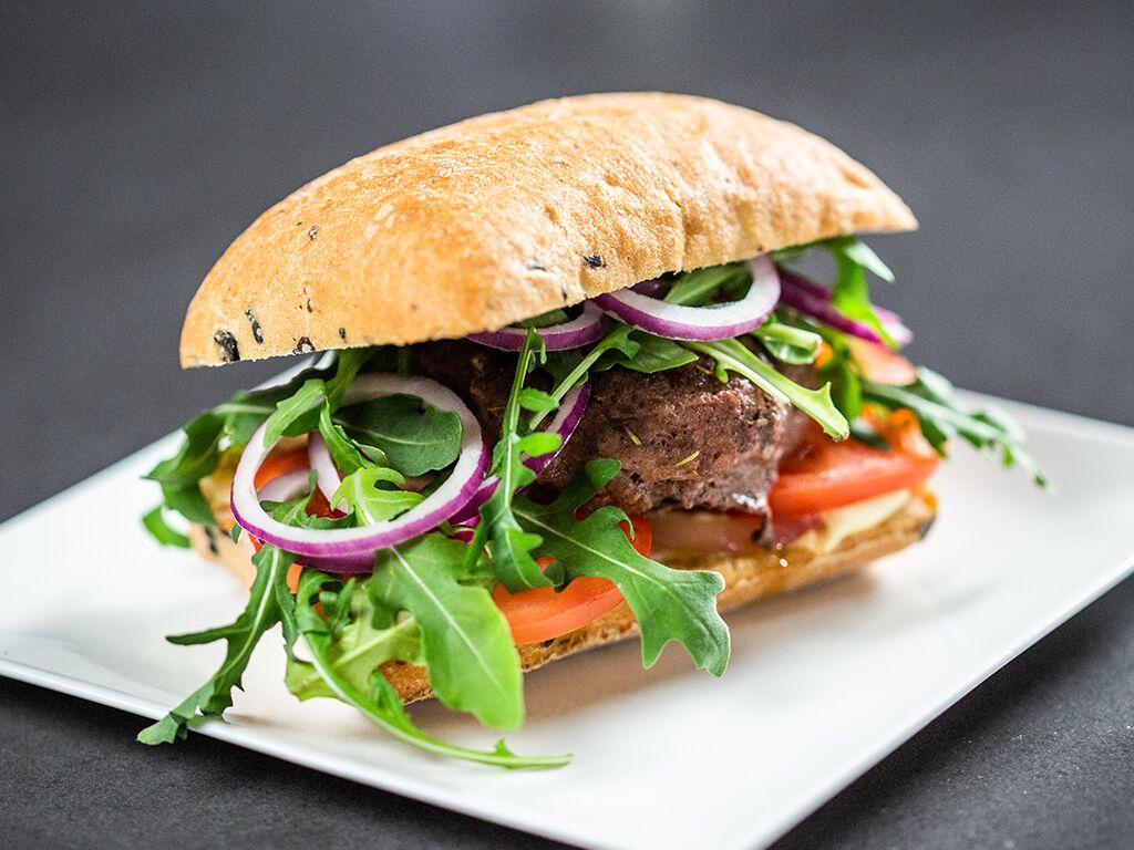 Lamb Mince Ciabatta Sandwich
