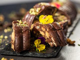 No-Bake Walnut and Chocolate Loaf Cake -