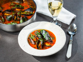 Mussel Soup with White Wine