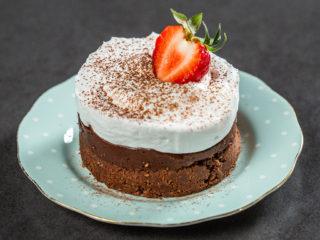 Chocolate Mini Cakes with Whipped Cream