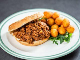Beef Sloppy Joe with Fried Potato Balls