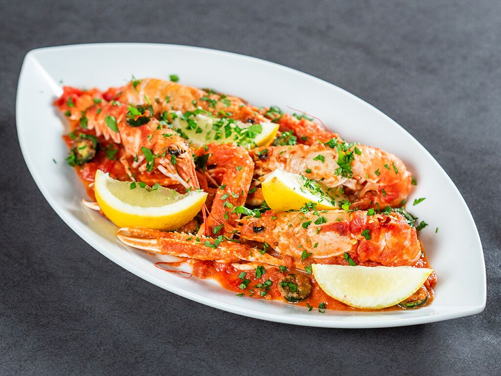 Langoustines with Tomato Sauce