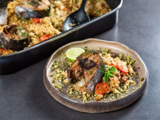 Tuna and Pistachio Couscous