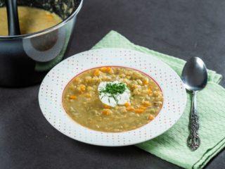 Rhubarb Lentil Soup