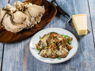 Baked Oyster Mushrooms