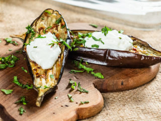 Roasted Eggplants with Garlic