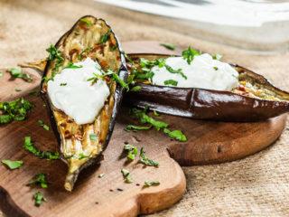 Roasted Eggplants with Garlic