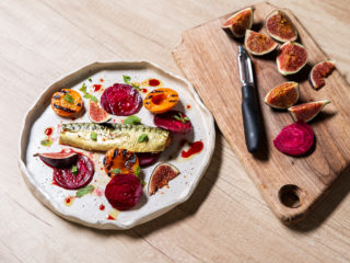fruity-beetroot-salad-and-smoked-mackerel-with-pomegranate-sauce