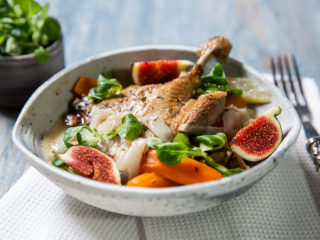 Roasted Duck with Figs