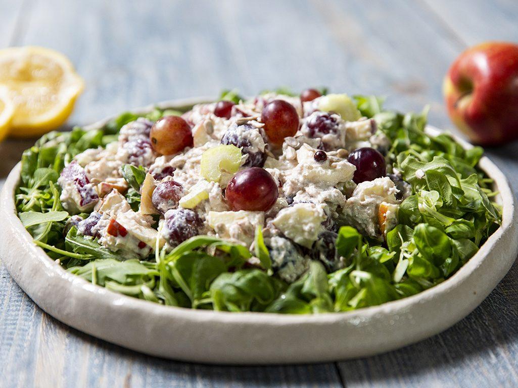 Waldorf Salad with Tuna and Sunflower Seeds