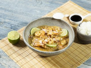 Peanut Shrimp in Coconut Sauce