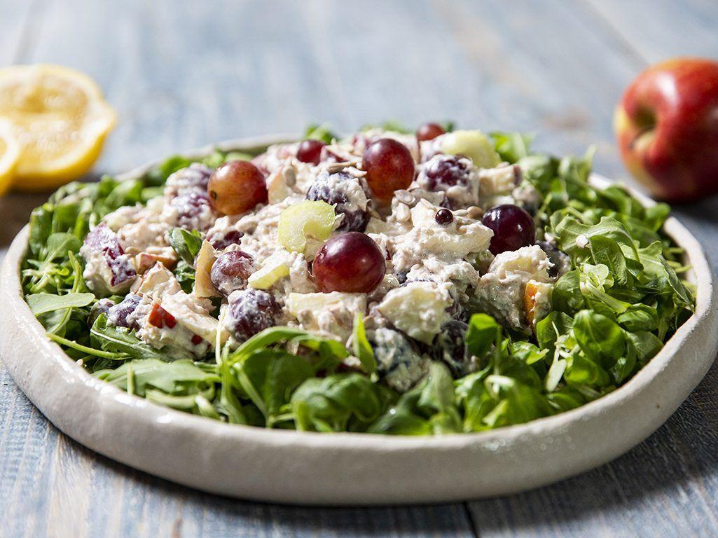 Waldorf-Salad-with-Tuna-and-Sunflower-Seeds