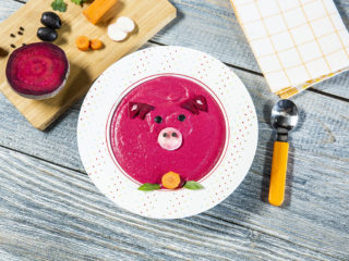 Potato and Beetroot Cream Soup