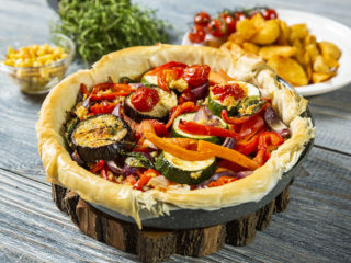 Roasted Vegetable Tart with Phyllo Dough