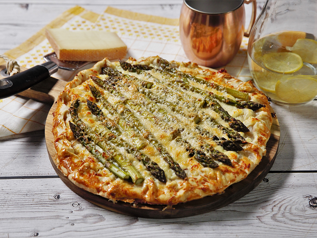 Asparagus and Goat Cheese Galette