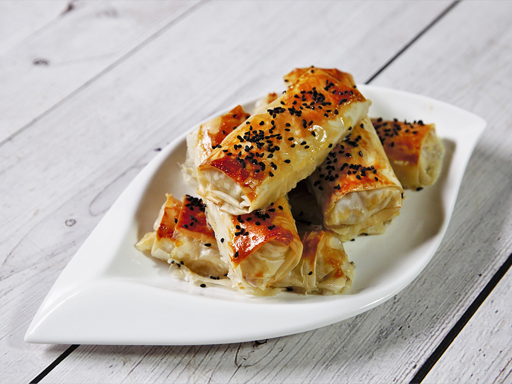 Goat Cheese and Salami Rolls