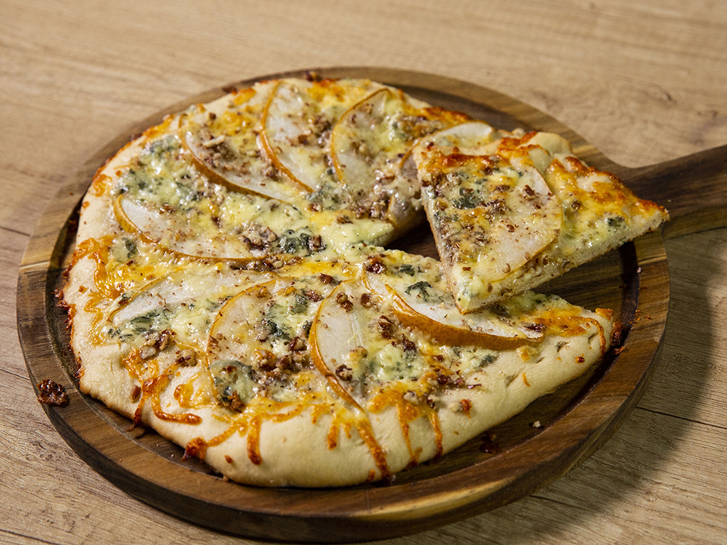 Pear and Walnut Pizza