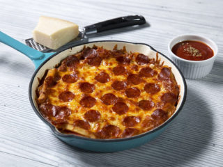 Cheesy French Fry Pizza with Salami