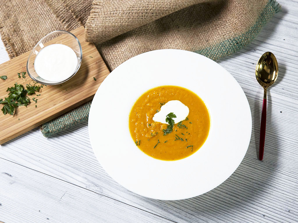 Carrot and Parsnip Cream Soup