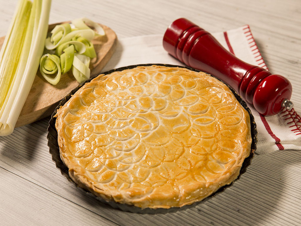 Leek and Cottage Cheese Pie