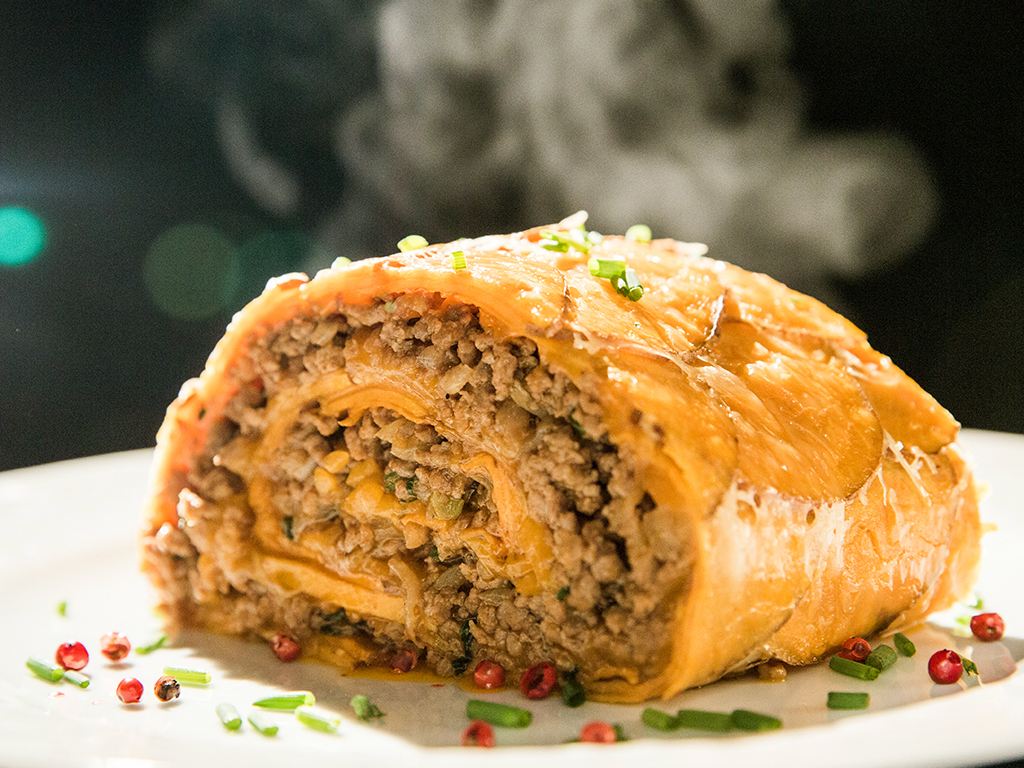 Scalloped Beef and Potato Roll