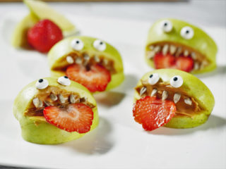Peanut Butter Apple Monsters