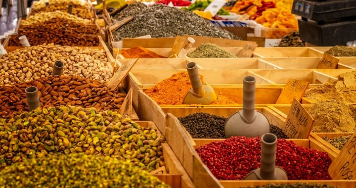 Spices on a open market