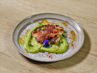 Zander Fillet with Pea Puree