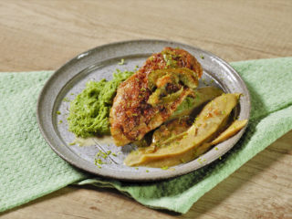 Chicken Breast with Lentil and Potato Puree