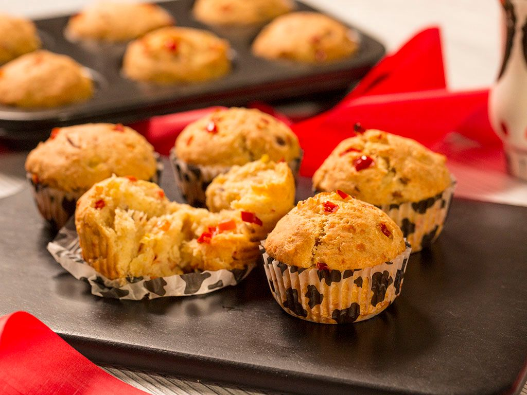 Carrot-and-Bell-Pepper-Muffins