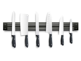 Various types of kitchen knives