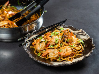 Shrimp Noodles with Shiitake Mushrooms