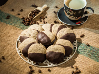 Turkish Coffee Shortbread Cookies