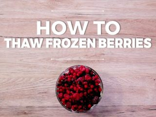How to Thaw Frozen Berries -