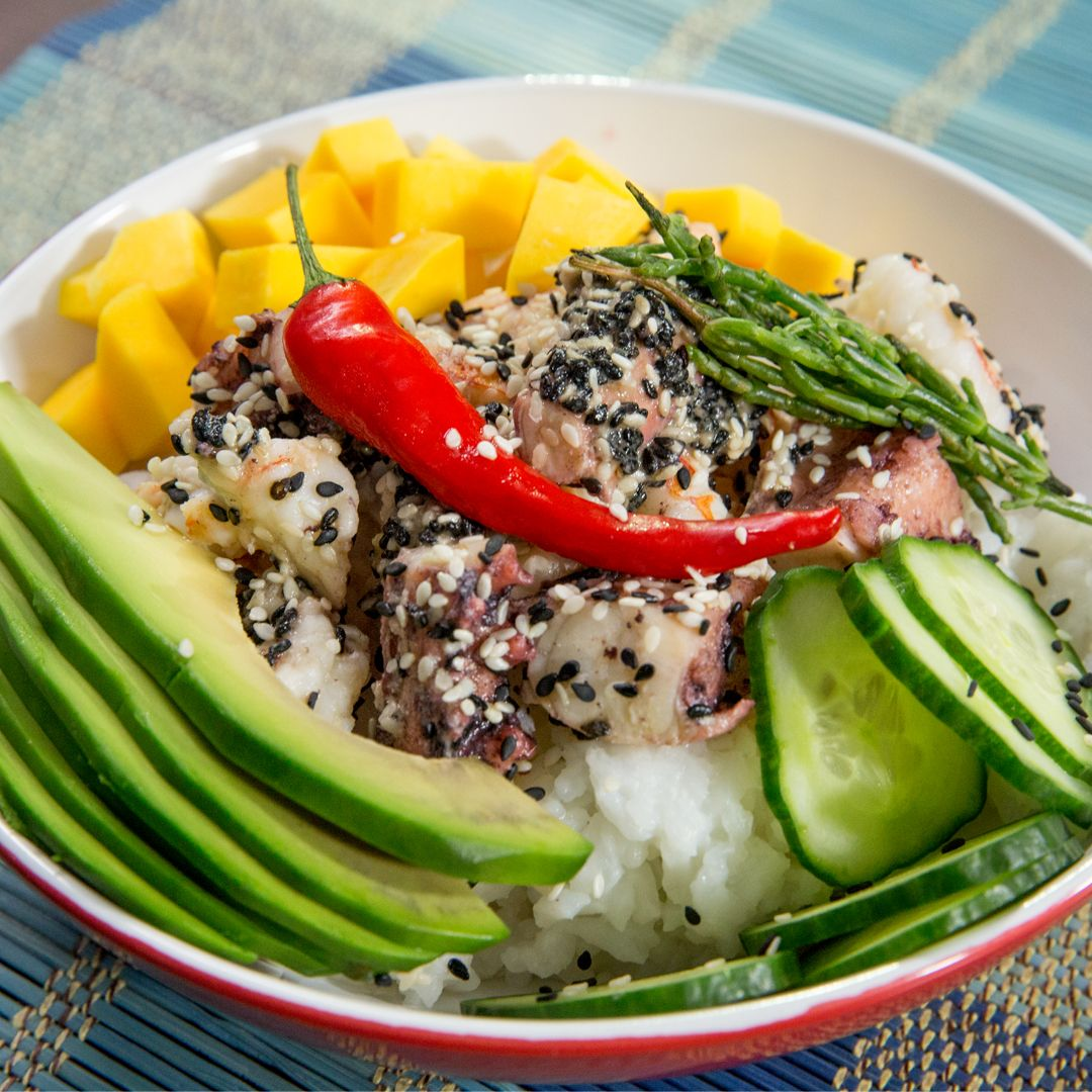 shrimp-and-octopus-rice-bowl