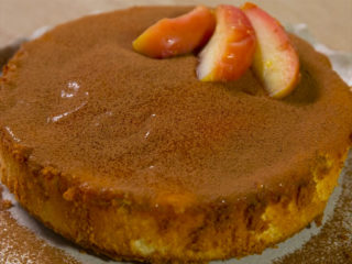 Orange, Apple, and Peanut Butter Cake